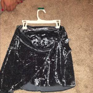Velvet blue skirt. Brand new